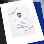 "Birthday  "" baseball ""  BD457 Greeting Card"