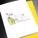 "Birthday  "" Lucky Friend Like You ""  BD482 Greeting Card"