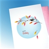 "Birthday "" Bird & Twig ""  BD55 Greeting Card"