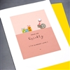 "Birthday  "" Belated Birthday / Snail ""  BD79 Greeting Card"