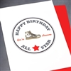 "Birthday  "" All Star ""  BD83 Greeting Card"