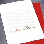 "Blanks "" Dog & Ball ""  BLK16 Greeting Card"