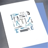 "Blanks "" Tools ""  BLK42 Greeting Card"