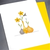 "Blanks "" Tiny Bee / Yellow ""  BLK44 Greeting Card"