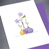"Blanks "" Tiny Bee / Purple""  BLK45 Greeting Card"