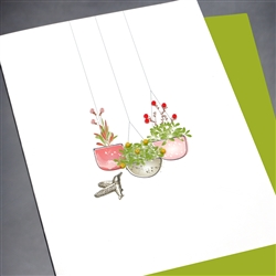"Blanks "" Flower Pots ""  BLK61 Greeting Card"