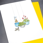 "Blanks "" Flower Pots ""  BLK62 Greeting Card"