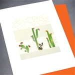 "Blanks "" Cactus ""  BLK63 Greeting Card"