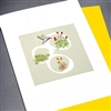 "Blanks "" Hummingbird / Yellow ""  BLK71 Greeting Card"