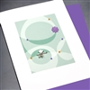 "Blanks "" Bird On Branch / Lavender ""  BLK76 Greeting Card"