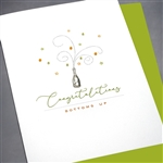 "Congratulations "" Champagne ""  CG11 Greeting Card"