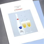"Congratulations "" champagne ""  CG20 Greeting Card"