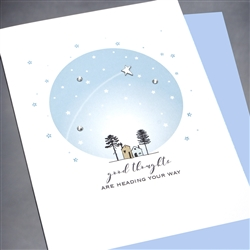 "Encouragement  "" Good Thoughts "" EN30 Greeting Card"
