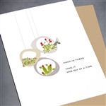 "Encouragement  "" Hang In There "" EN31 Greeting Card"