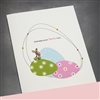 "Easter  "" Pink Heart ""  ES27 Greeting Card"