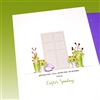 "Easter  "" Lavender Bunny ""  ES34 Greeting Card"