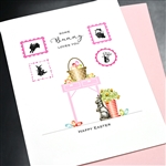 "Easter  "" Bunny Loves You ""  ES39 Greeting Card"