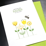 "Easter  ""  Flowers ""  ES54 Greeting Card"