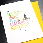 "Easter  "" Happiest Easter ""  ES57 Greeting Card"