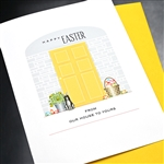 "Easter  "" Our House To Yours ""  ES68 Greeting Card"
