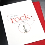 "Father' Day  "" Dad You Rock ""  FD101 Greeting Card"