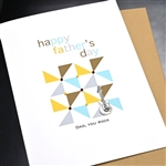 "Father' Day  "" Rockin' Guitar ""  FD105 Greeting Card"