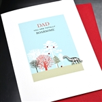 "Father' Day  "" Dinosaur ""  FD108 Greeting Card"