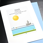 "Father' Day  "" Sailboat ""  FD110 Greeting Card"