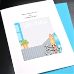 "Father' Day  "" Brother / Bicycle ""  FD113 Greeting Card"