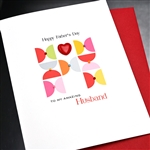 "Father' Day  "" Husband / Heart ""  FD117 Greeting Card"