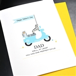 "Father' Day  "" Scooter ""  FD121 Greeting Card"