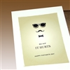 "Father Day  "" sunglasses ""  FD32 Greeting Card"