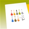 "Father Day  "" Guitar ""  FD74 Greeting Card"