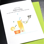 "Father' Day  "" Happy Hour ""  FD82 Greeting Card"