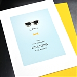 "Father' Day  "" Grandpa / Eyeglasses ""  FD83 Greeting Card"