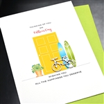 "Father' Day  "" Bicycle ""  FD93 Greeting Card"