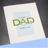 "Father Day  "" Father In Law ""  FD95 Greeting Card"