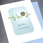 "Friendship  "" YOwl Eyes ""  FR112 Greeting Card"