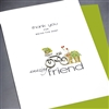 "Friendship "" Bicycle, Amazing Friend ""  FR131 Greeting Card"