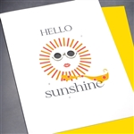 "Friendship "" Hello Sunshine ""  FR141 Greeting Card"