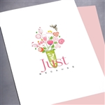 "Friendship "" Because ... Tiny Bee ""  FR147 Greeting Card"