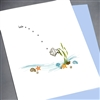"Friendship "" Hello / Fish ""  FR35 Greeting Card"