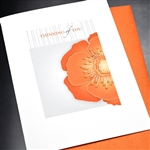 "Thinking Of You "" Orange Poppy ""  FR45 Greeting Card"