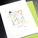 "Graduation  "" Red Star ""  GD19 Greeting Card"