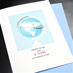 "Graduation  "" Jet Plane ""  GD25 Greeting Card"