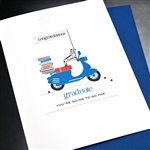 "Graduation  "" Going Far ""  GD26 Greeting Card"