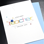 "Graduation  "" Great Teacher ""  GDTY07 Greeting Card"