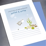 "Good Luck  "" New Beginnings "" GL09 Greeting Card"
