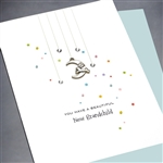 "New Grandparents  "" Rabbit & Moon ""  GR/NB02 Greeting Card"