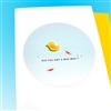"Get Well  "" Rubber Duck ""  GW33 Greeting Card"